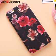 Jake.Secer For Apple iphone 6 Case S Cover Phone Protective Pretty Flower for Girls Cases for iPhone 6 s 6s 7 Plus Accessories(China)