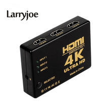 Larryjoe 4K*2K 1080P HDMI Video Audio Signal Splitter 3 Input 1 Output Switch Switcher For DVD/PS4/HDTV(China)