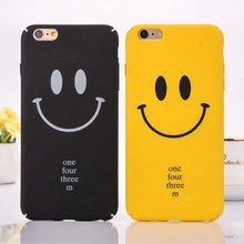 for iphone 7 Case Funny Smiling Face Hard PC Plastic Phone Case For Apple iPhone7 6 6S Plus Ultra Thin Matte Popular Cover Coque