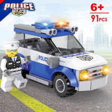 Hot super police mini SWAT patrol car jeep building block policeman bricks compatible legoe.City toys for kids gifts