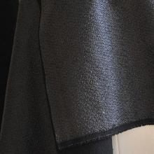 100cm*140cm synthetic Leather cloth wash old leather woven pattern of reflective coated fabric thick black garment jacket fabric