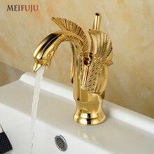 Antique Gold Bathroom Faucet Bronze Br Basin Retro Modern Taps Swan Luxury