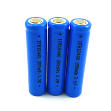 4pcs Lifepo4 3.2v 10440 rechargeable lithium ion battery cell AAA SIZE 200MAH for camera and solar led light(China)