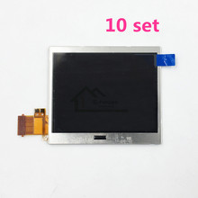10 set Original Bottom LCD Screen Len Replacement For Nintendo DS Lite NDSL Game Console Bottom Down LCD Screen