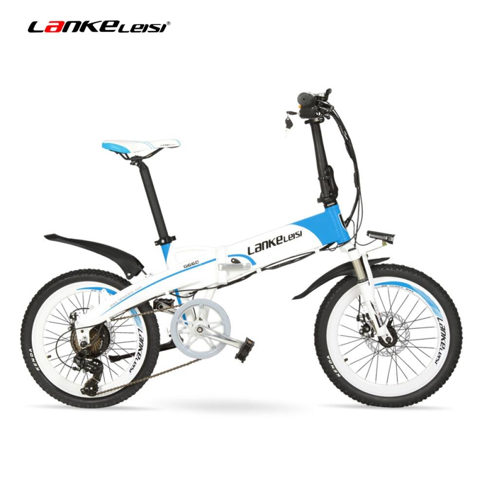 LANKELEISI G660 20 Inch Folding Mountain Bike 500W//240W Motor 48V 14.5Ah Lithium Battery Suspension Fork Pedal Assist Electric Bike