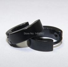 4mm Stainless Steel Solid Black Hoop Earrings Men Women's Huggie Hoops Fashion Earrings YE22