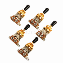 5Pcs Gold 3Way Toggle Switch for Gibson Epiphone Electric Guitar Replacement