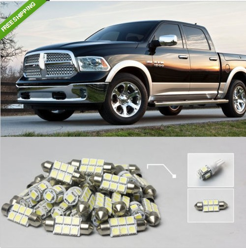8Piece White LED Interior Light Package Kit For 2009+ RAM 1500 #41<br><br>Aliexpress