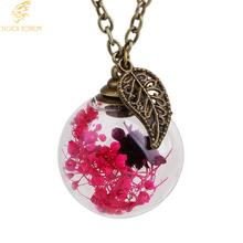 tiger totem Fashion Jewelry Italina Brand Multi 4 Colors Crystals Perfume Bottle Round Pendant Necklace Women Gift Free shipping(China)