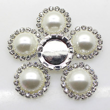 2017 Promotion Time-limited Rhinestones Plating 10pcs/set White Imitation Inlay Buttons Diy Sewing Accessory Wedding Liory