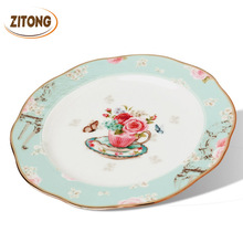 Creative Gift Bone China Ceramic Plate Kitchen Supplies Simple and Stylish Dessert Plate Dinner Dishes