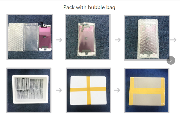 pack with bubble bag