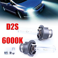 2pcs 35W 12V D2S HID Xenon Car Headlight High Quality Material Fog Light Lamp Bulb 6000K For Car Motorcycle Electric Motor Car