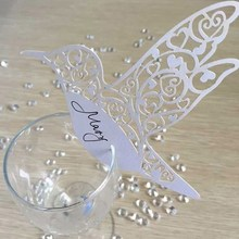 Buy 50pcs Name Place Cards Heart Glass Wedding Decoration Table Card Goblet Decorative Crafts Party Birthday Festival Supplies for $2.19 in AliExpress store