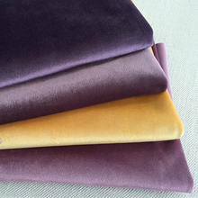 ESSIE HOME 280CM Silk Velvet Fabric Velour Fabric Pleuche Table Cloth Table Cover Upholstery Curtain Fabric Red Blue Brown Green(China)