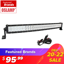 "Oslamp 5D 22"" 32"" 300W Curved LED Light Bar Offroad Led Work Light Bar Combo Beam Led Bar 4x4 ATV UTV Truck Boat Pickup 12v 24v(China)"