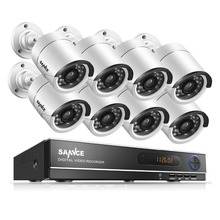 SANNCE 8CH 720P AHD DVR 8PCS 1.0MP IR Weatherproof Outdoor Camera Home Security System Surveillance Kits Email Alert(China)