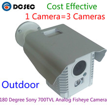 High Quality Full View 180/360 Degree Fisheye Sony 700TVL Effio CCD Panoramic Analog Security Camera Outdoor 720P Lens CCTV(China)