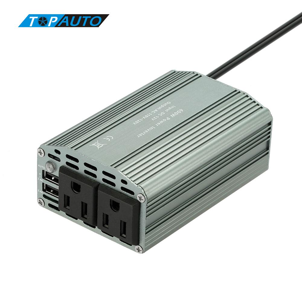 Online color invert picture - Auto 400w Power Mini Inverter Dc 12v To Ac 110v Converter 800w Peak 2 1a Dual