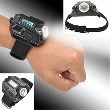 Rechargeable LED WristWatch USB Flashlight Wrist Flashlight Torch 4 Mode Wristlight Tactical Flashlight for Outdoor Sports
