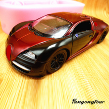 3D sports car cake mold silicone mold chocolate gypsum candle soap candy mold kitchen baking free shipping