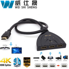 Hot sale 3 Port HDMI Switch Supports 4K Switcher HDMI Splitter HDMI Port Smart Android HD 1080P 3 Input to 1 Output for PS3 PS4