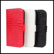 Croco Phone Case For Samsung S4 i9500 Mobile Phone Bag Leather Fashion Cases Cover For Samsung Galaxy S4 Flip Case Coque Funda(China)