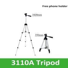 Professional Portable Aluminum Tripod Flexible Tripod Leg with Light Weight for SLR Camera DV Projector Phone Holder Free(China)