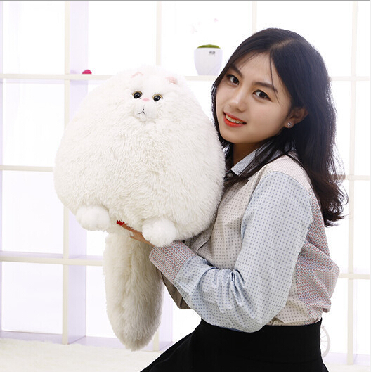 Free Shipping 30cm Korea Cute Fat Persian Cat Plush Toy Persian Cat Soft Stuffed Doll Plush Gift White Cat Doll NEW<br><br>Aliexpress