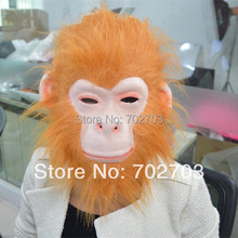 5pcs/lot Halloween party light brown hair gorilla mask