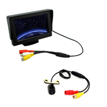 "4.3"" TFT LCD Stand-alone Monitor With Reversing CCD Mini Camera Car Rear View System Kit #J-3770"