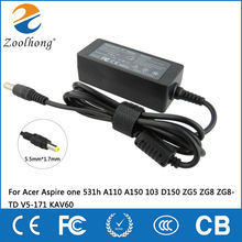 19V Zoolhong AC Adapter Power Charger for Acer Aspire one 531h A110 A150 103 D150 ZG5 ZG8 ZG8-TD V5-171 KAV60(China)