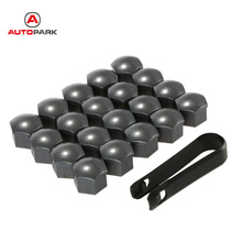 Car Replacement Parts 17mm 20pcs/set Car Plastic Caps Bolts Head Covers Nuts Wheel Protectors Chrome Universal for VW for AUDI