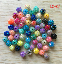 (choose size) 12mm/16mm mix AB color Resin Rhinestone Beads(China)