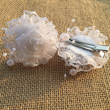 5pcs New girl Hair Clips imitation pearl Hairpins Children Hair Accessories white Bow With Princess Hairpins headbands for hair