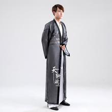 Swordsman hanfu costume ancient chinese Garment  for men dynasties warriors cosplay ancient China warrior suit  longue robe