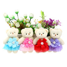 Flower Bouquets Teddy Bear Baby Girl Toys Cartoon Kids Animal Stuffed Doll Plush Toys Kids Birthday Gifts Wholesale