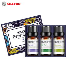 Essential Oil for Diffuser,Water-soluble Oil for Aromatherapy Humidifier 3 Kinds Fragrance of Lavender, Tea Tree,Lemongrass(China)
