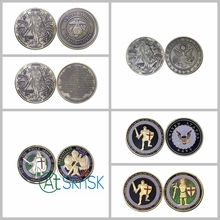 1pcs/lot Beautiful commemorative coins medals United States Put on the Whole Armor Of God US Challenge Coins 40*3mm