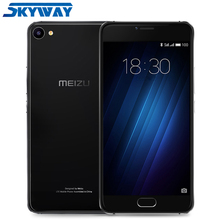"Original MEIZU U10 4G LTE 3GB 32GB Cell phone Global Firmware 2.5D Glass Smart Phone Octa Core 5.0"" HD 13.0MP Fingerprin"