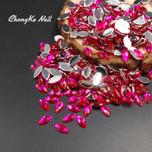 New Arrival 200pcs Nail Glitter Rose Horse Eyes Design Stone Acrylic Nail Accessories Make Up Decoration Nail Art Slices 5X10MM