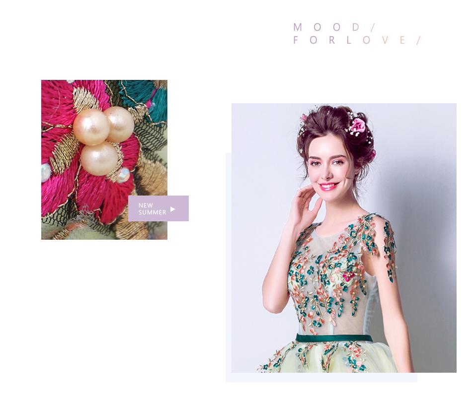 Angel Wedding Dress Marriage Bride Bridal Gown Vestido De Noiva 2017 Green, embroidery, the wizard of Oz 2217 4