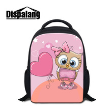 Dispalang high quality 3D owl cartoon schoolbags for girls kids creative design mini back pack for primary students cute bagpack