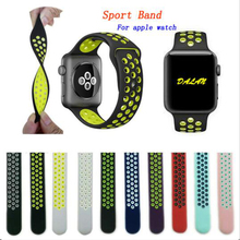 42mm 38mm S L size Silicone Colorful wrist band for Apple Watch Strap Sports Bracelet Series 2&1