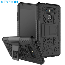 Buy Keysion Case LG G6 PC+Soft TPU Silicone Tyre Heavy Duty Armor Impact Shockproof Hard Case Stand LG G 6 for $5.99 in AliExpress store