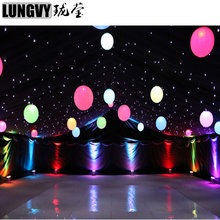Free Shipping White Blue LED 3mx 3m Star Cloth for Stage Disco Studio