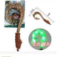 42cm Moana Maui weapon cosplay model fishing hook action figure toys can make light and sound Oyuncak for kids party supply gift(China)