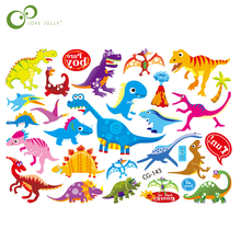 2Pcs Jurassic Dinosaurs Tattoo Stickers Waterproof Water Transfer Tattoo Fake Flash Tattoo Kids Cartoon Tattoo Sticker Toys GYH(China)