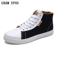 GRAM EPOS 2017 High Quality Man Canvas Shoes Fashion High Top Men's Casual Shoes Comfortable Breathable Male Lace Up Brand Shoes(China)