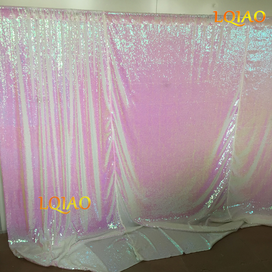 Changed White Reversible Sequin Backdrop-003